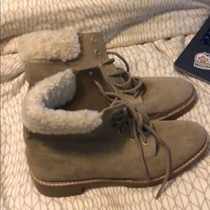 Suede hiking boots